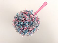 Great for gender reveal...Pink and Blue Confetti Pink and Blue Baby by ConfettiPaperParty  https://www.etsy.com/listing/261772711/pink-and-blue-confetti-pink-and-blue?ref=shop_home_active_16