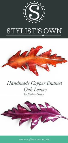 Stylist's Own® Copper Enamelled Forest Leaves Collection. Oak Leaves, Autumn Leaves, Handmade Copper, Stylists, Enamel, Walls, Exterior, Inspired, Create