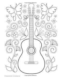 Music Sheet Coloring Pages See More Heidi Kahle Graham