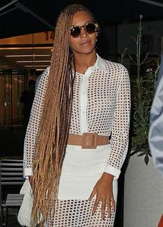 Beyonce's Super Long Micro Braids Hairstyle