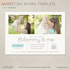 Mother's Day Mini Session template - Marketing board Mommy & me - PSD Digital file