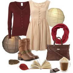 """""""Cute and cozy fall outfit"""" by natihasi on Polyvore"""