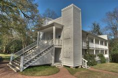 Historic home of Sam Houston ...  the Steamboat House in  Huntsville, Texas