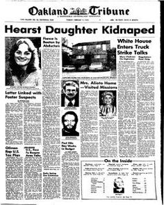 02/04/1974 Patty Hearst Kidnapping-I remember this being in the news all the time. This is the year we moved to Oakland.