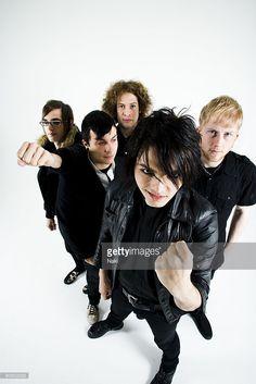 My Chemical Romance posed in London on November 05 2005. L - R Mikey Way, Frank Iero, Ray Toro, Gerard Way, Bob Bryar