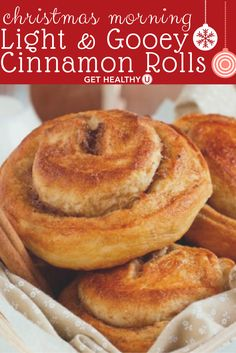 Try this light and gooey Cinnamon Roll recipe for your holiday brunch for a guilt free comfort food experience everyone will rave about.