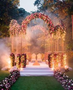 Photo of Floral decor mandap idea with open sides and aboveYou can find Indian weddings and more on our website.Photo of Floral decor mandap idea with open sides and above Desi Wedding Decor, Wedding Hall Decorations, Wedding Reception Backdrop, Wedding Mandap, Wedding Dress, Wedding Outfits, Wedding Themes, Wedding Centerpieces, Wedding Planner Cost