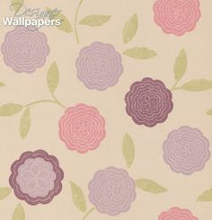 Eranthe is a contemporary floral wallpaper, featuring flat stylised stems and flower heads.  Charming and innocent.  Large scale measures 12cm/4.7inches.