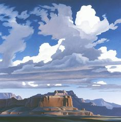 Ed Mell, Sweeping Clouds Print