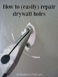 Easy Home Repair Hacks - Easily Patch Dry Wall Holes - Quick Ways To Fix Your Home With Cheap and Fast DIY Projects - Step by step Tutorials, Good Ideas for Renovating, Simple Tips and Tricks for Home Improvement on A Budget - Save Money and Time on Small Bathrooms, Kitchen, Bathroom, House and Household http://diyjoy.com/best-home-repair-hacks