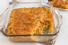 Very veggie lentil bake - this is SO GOOD. Its appearance doesn't do it justice! It's vegetarian and gluten-free, and it's really adaptable!