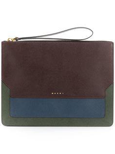 MARNI Trunk Clutch Bag. #marni #bags #leather #clutch #hand bags #