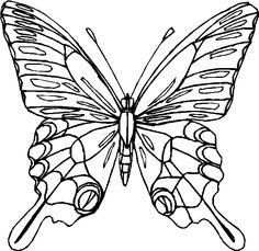 Farfalla da colorare disegni da colorare farfalle for Immagini farfalle per desktop