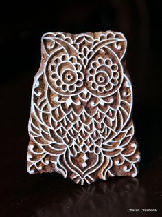 Hand Carved Indian Wood Textile Stamp Block by charancreations, $17.00
