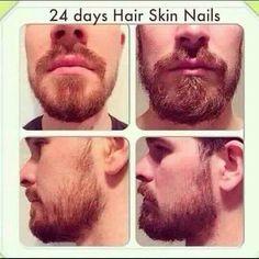 Hair skin and nails to grow a full beard