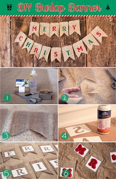 Supplies: Burlap Scissors Fabric Glue or Glue Gun Temporary Spray Glue Acrylic Paint No-Fray Spray Marker Measuring Tape Twine or Rope Stencils (make your own with the Silhouette Cameo) First, befo...