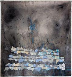 "Hughette Caland Voyage III 38""x41.5"" mixed media on canvas, 2010"
