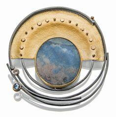 Distinctive sculptural design and quality craftsmanship: Sydney Lynch Jewelry Crafts, Jewelry Art, Gemstone Jewelry, Jewelry Design, Jewlery, Unique Jewelry, Jewelry Ideas, Metal Jewelry Making, Mixed Metal Jewelry