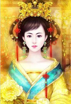 《凤求凰·琴歌》 有美人兮, 见之不忘。一日不见兮,思之如狂。 凤飞翱翔兮,四海求凰。无奈佳人兮,不在东墙。 将琴代语兮,聊写衷肠。何日见许兮,慰我旁徨。 愿言配德兮,携手相将。不得於飞兮,使我沦亡。 - 堆糖 发现生活_收集美好_分享图片 Fantasy Paintings, Fantasy Art, Geisha, Asian Artwork, Art Costume, Costumes, Bonsai Art, China Art, Creative Pictures