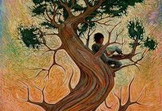 Grandfather Tree of Knowledge, by Shonto Begay, Navajo artist and storyteller, I met him at a writer's conference. -Jo