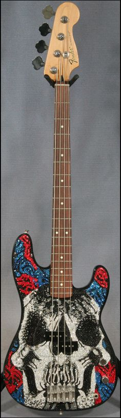Check out this Deftones-themed Fender!  Chi would be proud!