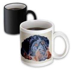 Taiche - Acrylic Painting - Rottweiler - Rottweiler Portrait - rottweiler, rottweilers, rottie, rotties, rottie owner, rottweiler puppy - 11oz Magic Transforming Mug (mug_46884_3) 3dRose http://www.amazon.com/dp/B00BFMYEGI/ref=cm_sw_r_pi_dp_wuzowb1ZFZ98K