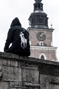Street goth ninja ... Ralph Lauren Polo logo turned into The Grim Reaper