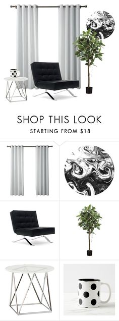 """Black and white"" by camiehope on Polyvore featuring interior, interiors, interior design, hogar, home decor, interior decorating, Gabby, blackandwhite, plants y barcelonachair"