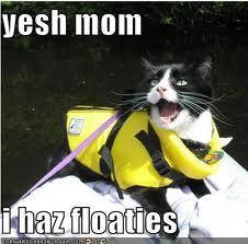Yesh mum, I haz floaties