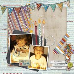 Make a Wish - Birthday Boy Digital Scrapbooking Layout from Creative Memories