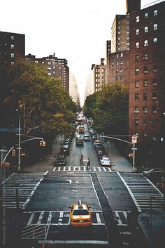 New York street by Sophia van den Hoek