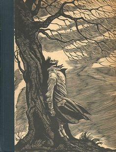 "1943 Edition of the Classic published by Random House of ""WUTHERING HEIGHTS"" by Emily Bronte. Illustrated with Wood Engravings by Fritz Eichenberg. Emily Bronte, Charlotte Bronte, I Love Books, Great Books, My Books, Jane Eyre, Yorkshire, Nerd, Wuthering Heights"
