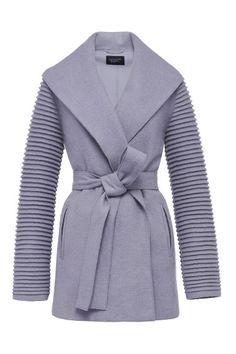 Wrap Coat with Ribbed Sleeves - PRE-ORDER F/W 2016 | Sentaler Luxury Designer Outerwear | Alpaca Coats