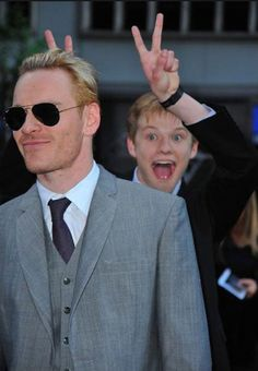 Lucas being a dork at the First Class premiere