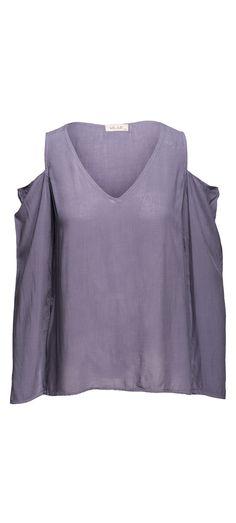 Bella Dahl Cold Shoulder V-Neck in Lake / Manage Products / Catalog / Magento Admin