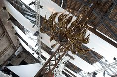 #Chandelier by #Muranoglass.com at the America's Cup World Series 2012 exhibition in Venice , Italy