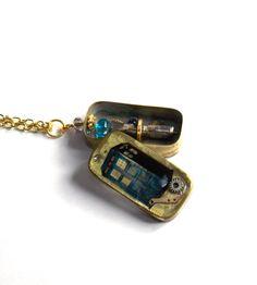 Doctor Who Necklace Hidden Dimension Locket 6 by BlueNightJewelry