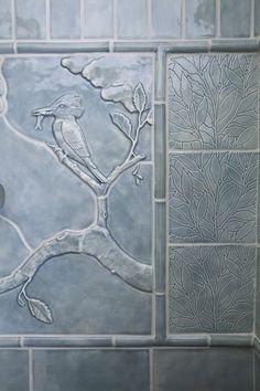 Decorative Pencil Tile Stunning From Blue Slide Art Tile  Cahandmade Tile  Blue Slide Art Tile Design Inspiration
