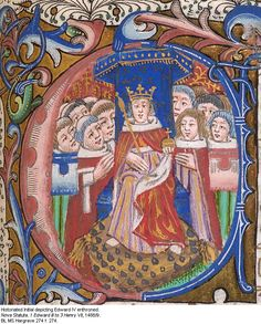 Historiated Initial Depicting Edward IV Enthroned, 1488-9