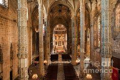Interior of the Jeronimos Monastery Church of Santa Maria in Lisbon, Portugal. #lisbon #lisboa #portugal #church #interior #churchinterior #jeronimosmonastery #christian #christianity #historical #santamaria #europe #temple #christiantemple