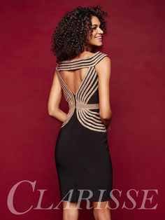 80f498090c0 Fitted Cocktail Dress with Gold Sparkling Beading! Clarisse 3352!  DESCRIPTION  Fitted