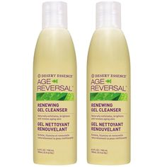 Desert Essence Age Reversal Renewing Gel Cleanser With Willowbark Extract, Glycolic Extract and 5 Natural Fruit Acid Extracts, 6.4 fl oz (190 ml) (Pack of 2) * Hurry! Check out this great product : Natural Beauty Care