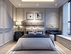 The Honest to Goodness Truth on Elegant Bedroom Design for Small Room - houseinspira Modern Classic Bedroom, Elegant Bedroom Design, Luxury Bedroom Design, Master Bedroom Interior, Modern Master Bedroom, Luxury Home Decor, Living Room Interior, Home Decor Bedroom, Modern Classic Interior