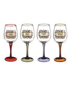 Take a look at this Aficionado Wine Glass Set by Amscan on #zulily today!