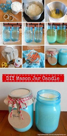 43 Fun And Creative Diy Gift Ideas Everyone On Your Gift List Will . 43 Fun And Creative DIY Gift Ideas Everyone On Your Gift List Will easy diy gifts - Easy Diy Crafts Pot Mason Diy, Mason Jar Crafts, Mason Jar Candles, Diy Candles, Citronella Candles, Scented Candles, Homemade Candles, Homemade Gifts, Do It Yourself Baby
