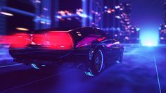 80s Style Retrowave Animation-10