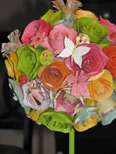 Bits of Me: Spring Paper Flower Topiary