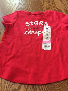 1e5dcc19216a Shirt For Toddler Girl Size 18 Months Patriotic Scheme  fashion  clothing   shoes