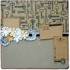 National Craft Month – Scrapbook bulletin board made with Smoothfoam