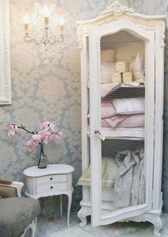 Love repurposed cabinets for shabby look! So pretty..